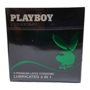 Προφυλακτικά Playboy Premium Latex Lubricated 3in1 3τμχ